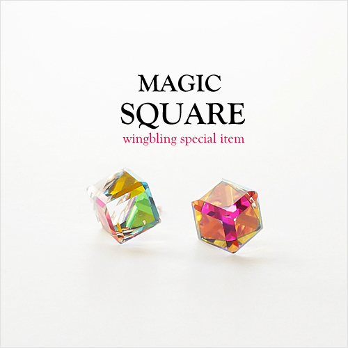 ★SWAROVSKI★MAGIC SQUARE Earring