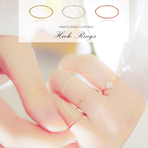 ★Silver 925★HIELO Ring[Thin Ring][Layered Ring]