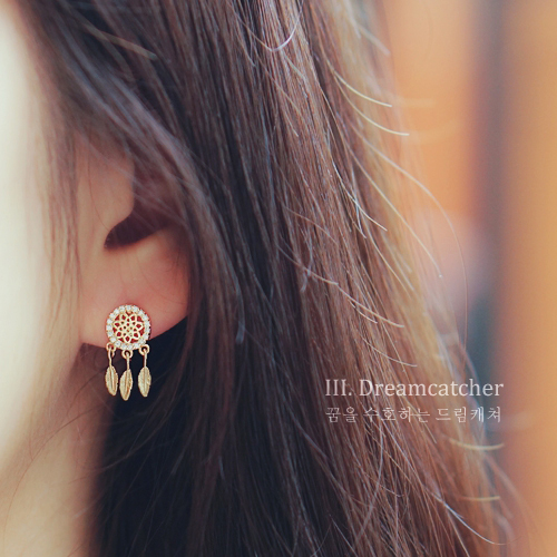 ★silver pin★DREAMCATHCER III Earring