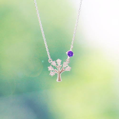 ★silver 925★WISH TREE & BIRTHSTONES Necklace