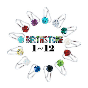 ★birthstone ear cuff