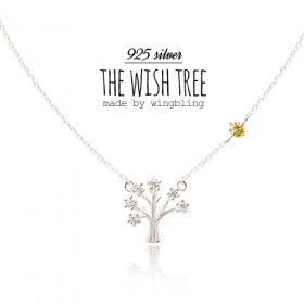 [14K gold][manufacture on demand]★silver 925★WISH TREE & BIRTHSTONES Necklace