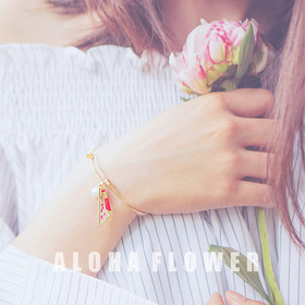 ★HANDMADE★ALOHA Bracelet[Resin Craft Bracelet][Real Flower Bracelet]