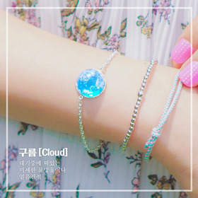 ★Silver 925★Ara Cloud Bracelet [Resin Craft]
