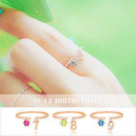 ★FREE SIZE★iO Ring[Birthstone Number Ring]