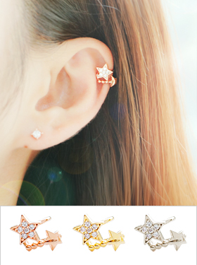Two star ear cuff