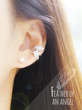 ★Earcuff★FEATHER OF AN ANGEL Earcuff