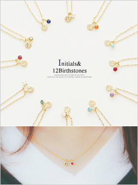 ★Initials & Birthstones★JUBIA Necklace