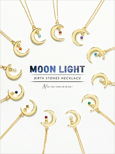 ★12 birthstone★ Moonlight necklace